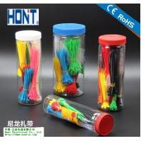 China Plastic bottled /plastic barrel nylon cable ties for sale