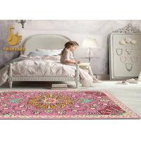 Wholesale High Density 100% Polyester Custom Area Rugs With Anti Slip Pvc Dots Backing from china suppliers