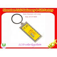 Wholesale customized acrylic LCD logo solar keychain with clock for promotion gift from china suppliers