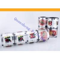 Quality Heat Sealable Bubble Tea Cup Sealing Film Roll For Plastic Cup / Paper Cup for sale