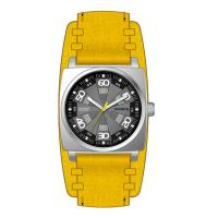 Wholesale Men's Square Quartz Wrist Watch With Leather Strap , High End Quartz Watches from china suppliers