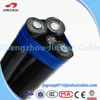 Wholesale Professional Oyster Aluminum Triplex Cable , 0.6 / 1KV Underground Service Entrance Cable from china suppliers