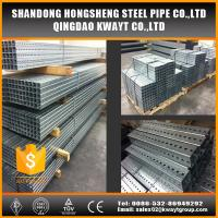 Quality Pre-Galvanized square perforated steel tubing for sign post for sale