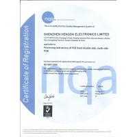 Shenzhen Hengda Electronics Limited Certifications