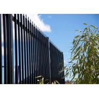 Wholesale Black powder coated spear top galvanised tubular metal fence from china suppliers