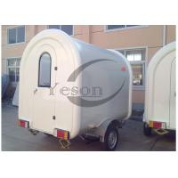 Wholesale White Fiber Glass Delivering Food Truck Trailers Vehicle Commercial Kitchen Equipment from china suppliers