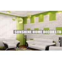 Wholesale Waterproof 3D Wall Art Tiles , Bathroom 3D Decorative Wall Ceiling Panel from china suppliers