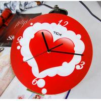 Wholesale Red Heart Home Decoration Art Contemporary Wall Clocks LY-025  from china suppliers