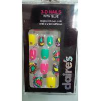 Buy cheap 3D long Fake Nails Nail Art Gold Metal decoreation with Full Cover from wholesalers