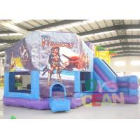 Wholesale Purple And Blue Inflatable Cartoon Module Bounce House Pentagon Castle With Slide from china suppliers