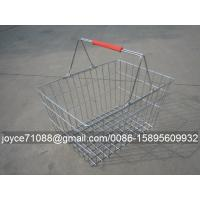 Wholesale Convenient Metal Shopping Baskets , Supermarket / Grocery Store Baskets from china suppliers
