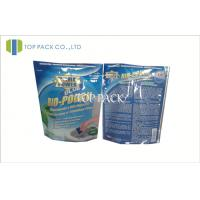 Wholesale Blue Printed Foil Stand Up Pouches With Ziplock , Heat Seal Foil Bags from china suppliers