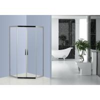 Wholesale Diamand Stainless Steel Shower Enclosures With Top / Bottom Double Wheels from china suppliers