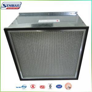 Quality Galvanized Frame Fiberglass Media Ventilation System Hepa Efficiency HVAC Air Filters for sale