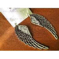 Wholesale Earring with Silver Tone Crystal Wing Earring from china suppliers