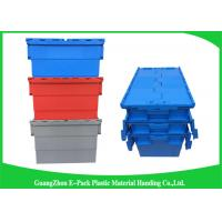 Wholesale Turnover Logistics Opaque Plastic Attached Lid Containers For Foods , Textile from china suppliers