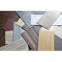 "Wholesale Waterproof Wood Grain PVC Floor Tiles No - Wax 9""X48"" Installed With Glue from china suppliers"