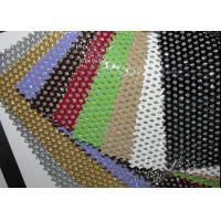 Wholesale Hole Punch Pattern PU Black Perforated Leather Fabric With Nonwowoven Backing from china suppliers