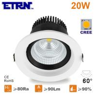 Wholesale ETRN Brand CREE COB LED 4 inch 20W LED Downlights Ceiling Lights Recessed lights from china suppliers