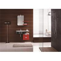 Wholesale European Style Red Lacquer Bathroom Vanity Cabinets Waterproof Board Free Standing from china suppliers