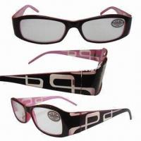Wholesale Plastic Reading Sunglasses, Made of Acetate, Various Designs are Available from china suppliers
