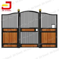 Wholesale Steel Frame Bamboo Horse Stall Gates , Custom Prefab Horse Stables from china suppliers