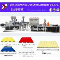Wholesale pvc corrugated roof sheet making machine/price of corrugated pvc roof sheet from china suppliers