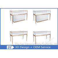 Wholesale Matte White Wooden Glass Display Cases For Jewelry And Watch Store from china suppliers