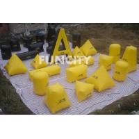 Wholesale 26PC Paintball Bunker Inflatable Sport Games Yellow and Black from china suppliers