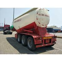 China 3 axle 40-55cbm bulk cement dry powder horizontal cement silo for sale - TITAN VEHICLE on sale