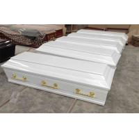 Wholesale White greece wooden coffins with lining and lid lining 200x49/65/43x52cm from china suppliers