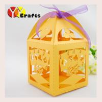 Wholesale Lemon Yellow Candy Wedding Gift Boxes Birdcage Poker Design from china suppliers
