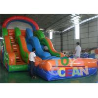 Wholesale Children Park Colorful Large Custom Inflatable Water Slide , Blower 110~230V from china suppliers