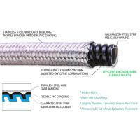 Quality DELIKON heavy series over braided flexible conduit and heavy series fittings for bank security wirings for sale