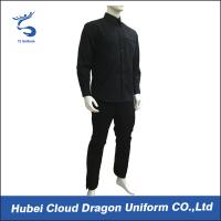 Wholesale Custom Black Poplin Twill Police SWAT Uniforms Long Sleeve For Police Officer from china suppliers