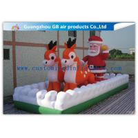 Wholesale Outside Inflatable Christmas Blow Up Santa And Reindeer For Party / Stores from china suppliers
