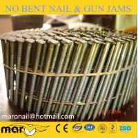 Wholesale 15 degree ring shank coil nails/coil pallet nails from china suppliers