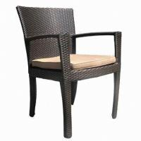 Wholesale Wicker dining chair/UV resistance-outdoor/garden/restaurant/hotel furniture with aluminum from china suppliers