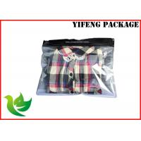 Quality SGS Certificate Clear Window Zip Lock Plastic Bags For Clothes / Garment Packaging for sale