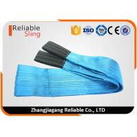 Wholesale 8 Ton Blue Reinforced Loop Eye Web Lifting Slings Flat Web Belt For Lifting Heavy Loads from china suppliers