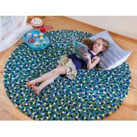 Wholesale felt balls rug/wool balls rug / felt ball carpet/wool felt ball rug from china suppliers