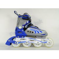 Wholesale Button Adjustable Adult Roller Skates or Rollerblades 2 PCS Aluminum Chassis Semi-Soft Shell from china suppliers