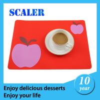 Wholesale Flexable  Red Silicon Mat  Heat Resistant Promotional Potholder 166*166mm for baking from china suppliers