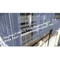 Quality Double Silver Low-E Coating Film Glazed Stick-built System Glass Façade Curtain Wall Office Buildings for sale