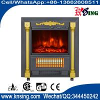 Wholesale Mobile Fireplaces electric heater fire log electric stove SF-1424 flame effect room Heater Quartz tube infrared wheels from china suppliers