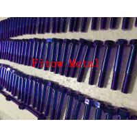 Quality GR5(6Al4V) anodize color as blue, black, golden,Titanium Hexagon Flange Head Bolt for sale