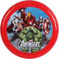 Quality Durable Marvel Plastic Flying Disc , Red 9inch Flying Disc Frisbee for sale