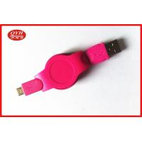 Wholesale Android Phone Retractable Micro USB Cable Colorful ABS Two Way from china suppliers