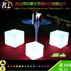 Quality led furniture plastic led cube for sale