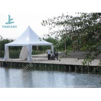 Buy cheap White PVC Fabric Cover Aluminum Frame  High Peak Canopy against Strong Sun from wholesalers